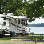                                      Waterfront camping!