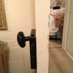                                      Bedroom door missing handle