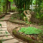 The interesting garden path
