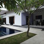 Deluxe Pool Villa- Pool and Outdoor Dining Area