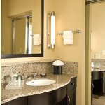 Each Accessible Suite Features An Elegant Vanity With Granite Countertops.