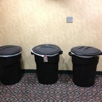 The trash cans that greet you as you step off the 3rd floor elevator.