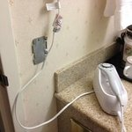 wall mounted hair dryer went unrepaired