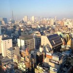 view of downtown Tokyo from our room