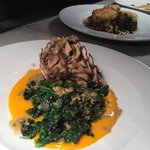                    BRAISED HEN OF THE WOODS MUSHROOM Smoked Eggplant, Reggiano