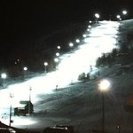 floodlit ski run