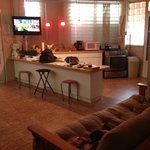                                     El Pescado .. Living room &amp; kitchen view