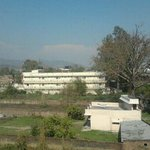 Scenic view of Mansa devi temple from hotel room