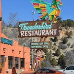 Nostalgic Sign at the Thunderbird Lodge