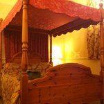                    Lovely four poster bed in the Venetian Suite!