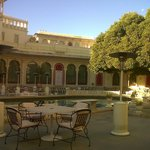 the courtyard and pool