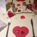 Valentine's Day 2013 celebration evening meal at The Weathervane, Meir Park, S