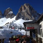                    Lunchtime at Passo Sella