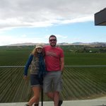 Nick and I taking in the view from Bancroft Vineyards...