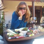 Beautiful platter at Giesen Wines with an amazing Pinot Noir