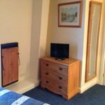                    tv and trouser press in 6th floor room