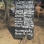 Surya Beach Cafe with famous patron?