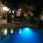 The bar/pool area