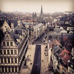                   Gent vanaf de Belfort kerk/kathedraal