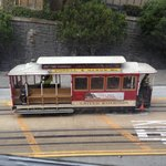                    View of trolley from 2nd floor room.