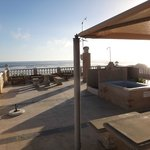  Rooftop hot tub and lounge area with view of ocean