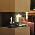                    Fireplace at the restaurant / bar