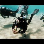 Ayman and us diving on the classified excursion