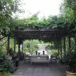 The pergola, one of the many fabulous settings