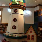 lighthouse in children's section- climb upstairs!