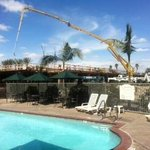 construction by pool
