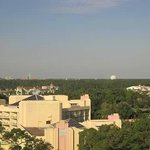 View of Epcot and other parks/resorts from hotel room window.