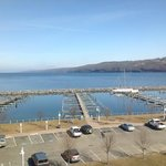                    View from 4th floor lakeside room, overlooking Lake Seneca.