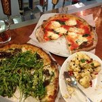                    Korean BBQ, Margherita and roasted cauliflower