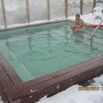                    Hot mineral springs and a late winter storm