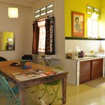 1st Floor Studio Apartment- kitchen end & dining table