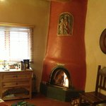 The Verde Room with kiva fireplace