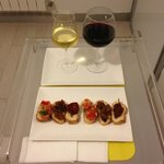 Sicilian wine and appetizers! Yum