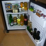 well stocked mini bar