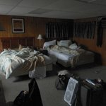 Our room, the farthest on the left. Two very comfy queen beds and a sofa bed.
