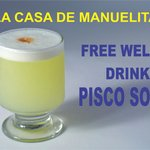 Welcome drink de cortesía!!!