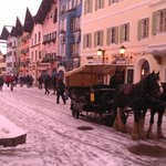 Kitzbhuel Old Main Street with TB hotel far end right