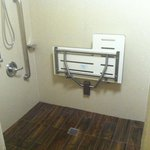 Handicap room shower newly remodeled