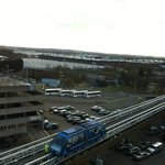 View from the room: sky train to the NEC