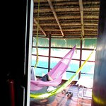 Upstairs verandah with hammocks