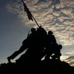  Iwo Jima memorial at sunset (2 minutes from Inn)