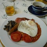                    Full English breakfast with home made bread
