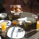 Breakfast on rooftop terrace