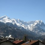                    Alpspitze and Zugspitze with snow - taken from the Balcony