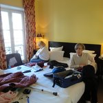                    Our room, a double bed and a single bed