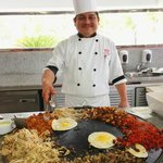  Happy lunchtime Fajita Chef